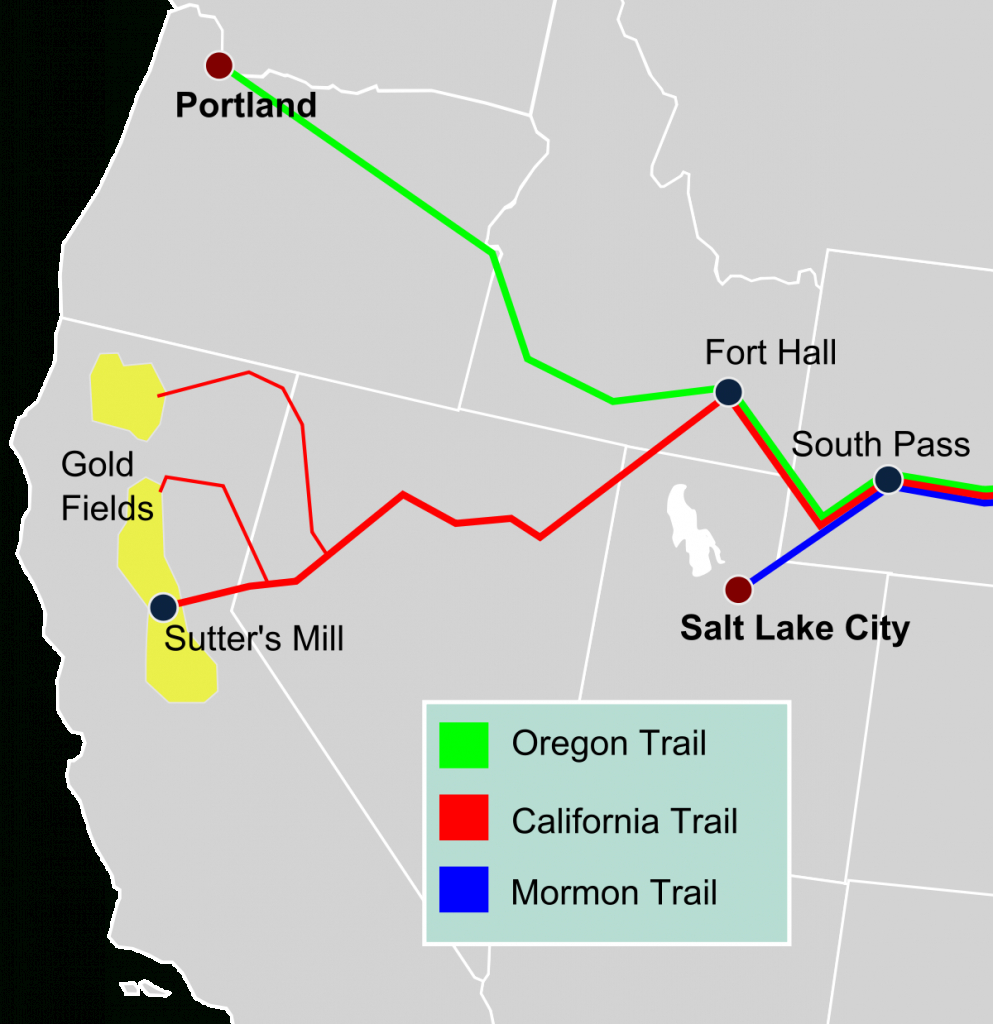 California Trail - Wikipedia - California Trail Map