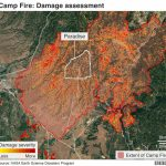 California Wildfires: Thanksgiving Hope From Ashes Of Paradise   Bbc   Paradise California Map