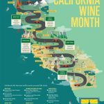 California Wine Poster For The Wine Institute Annual Wine Month   California Wine Map Poster