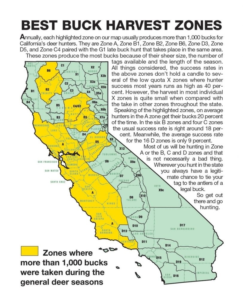 California Zone Map For Deer Hunting – Map Of Usa District - California Hunting Zone Map