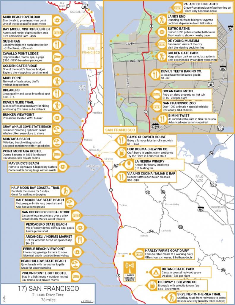 California's Central Coast Road Trip Guide - Camping Central California Coast Map