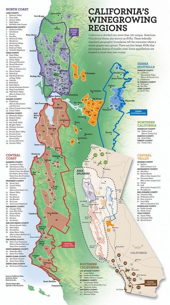 California's Wine Growing Regions   Infographics   Italian Wine - California Wine Appellation Map