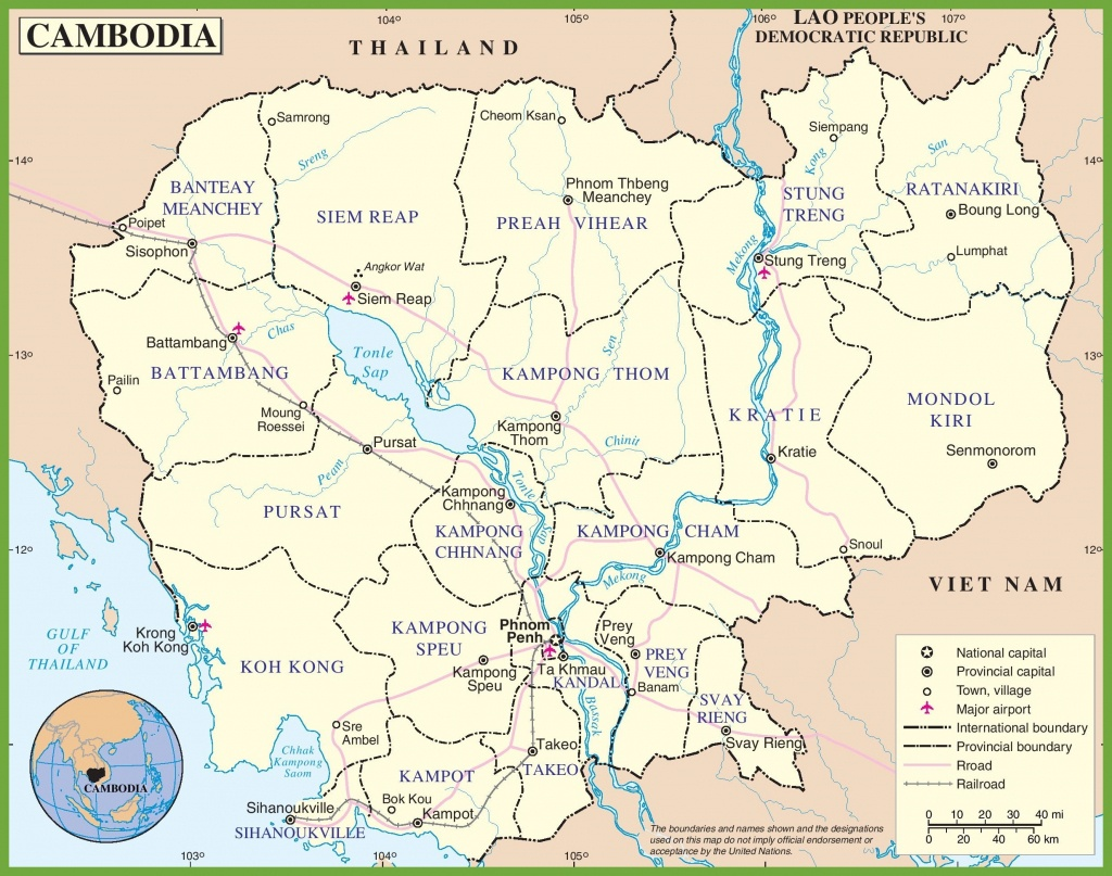 Cambodia Maps | Maps Of Cambodia - Printable Map Of Cambodia