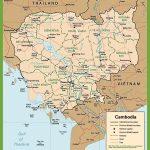 Cambodia Road Map   Printable Map Of Cambodia