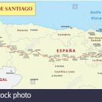 Camino De Santiago Map Stock Photos & Camino De Santiago Map Stock   Printable Map Of Camino De Santiago