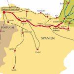 Camino De Santiago Routes In Spain   Printable Map Of Camino De Santiago
