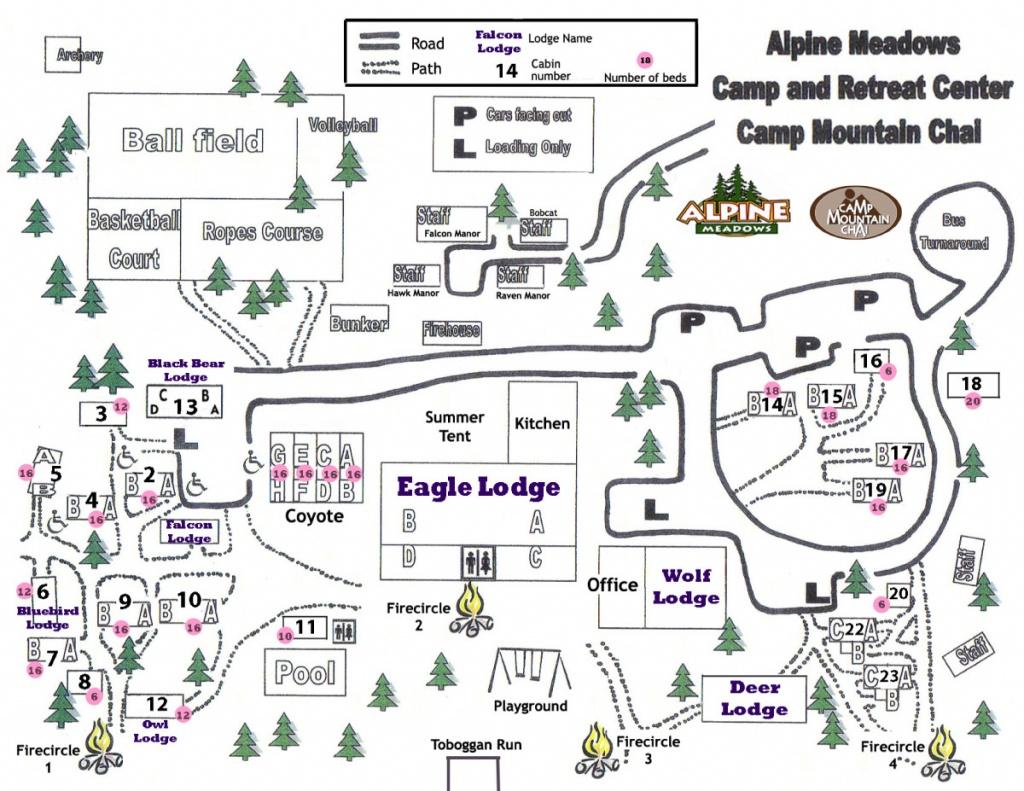 Camp Map   Retreat Center   Southern California   Alpine Meadows - Southern California Campgrounds Map