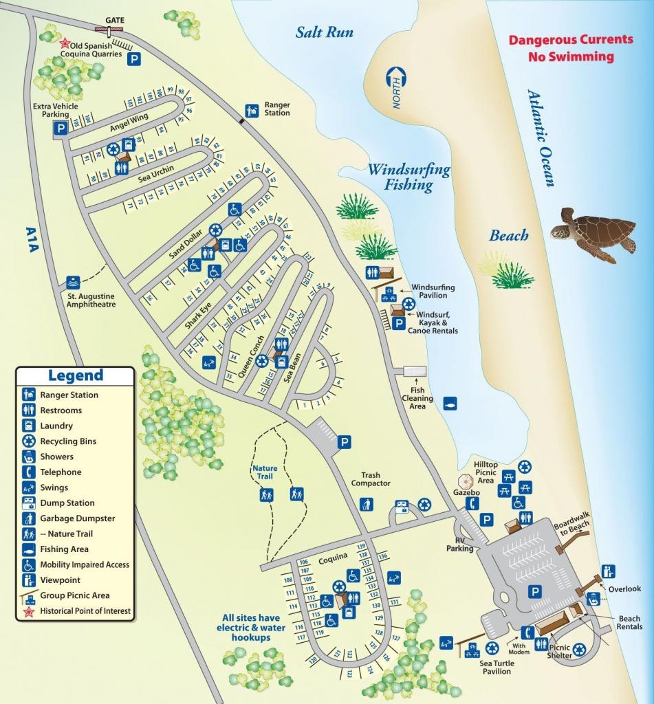 Campground Map Anastasia State Park | Florida | Florida Camping - Florida Campgrounds Map