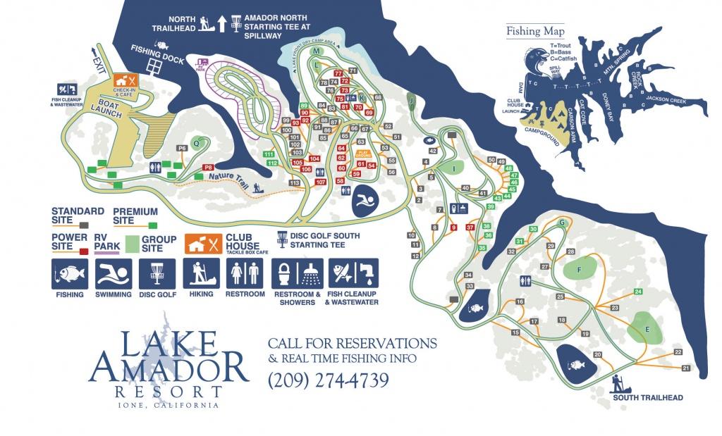 Campground Map – Fishing & Camping In Northern Ca | Lake Amador - Northern California Fishing Map