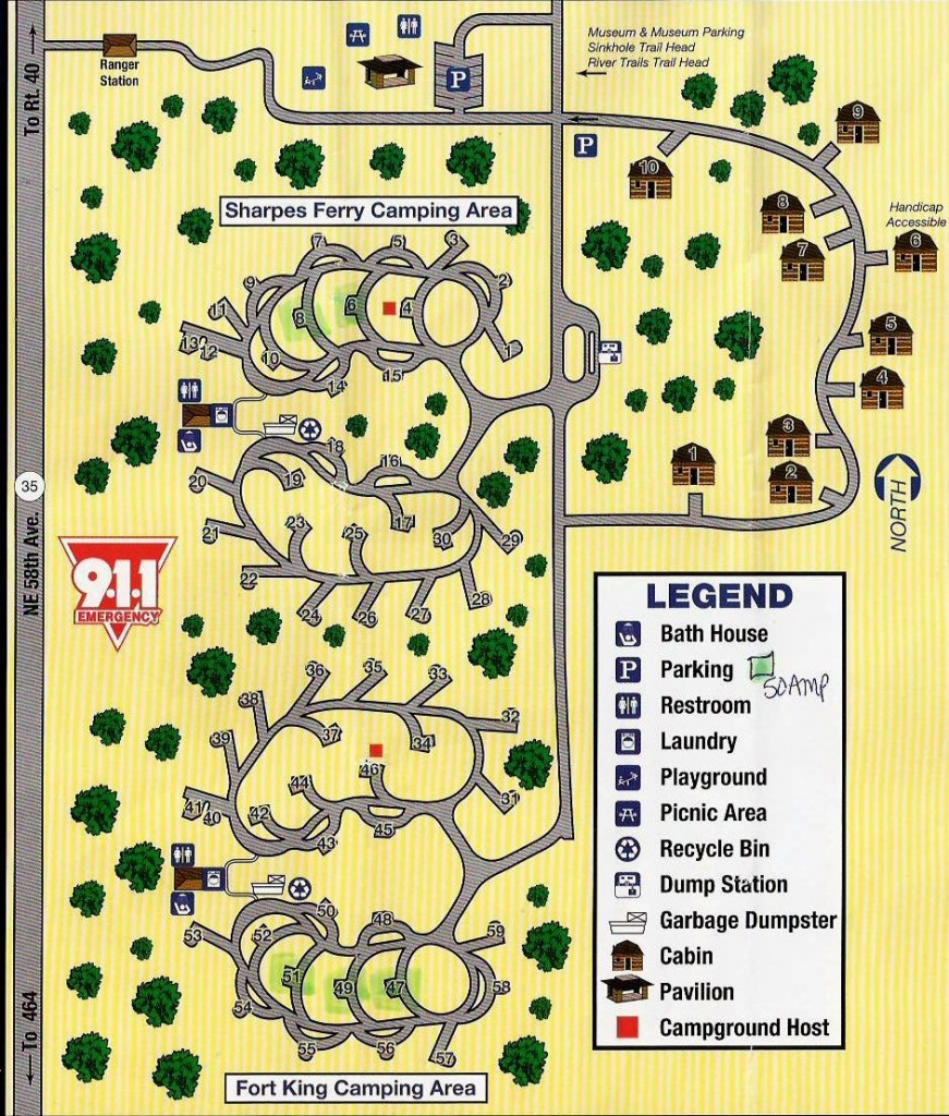Campground Map - Silver River State Park - Ocala - Florida - Florida State Park Campgrounds Map