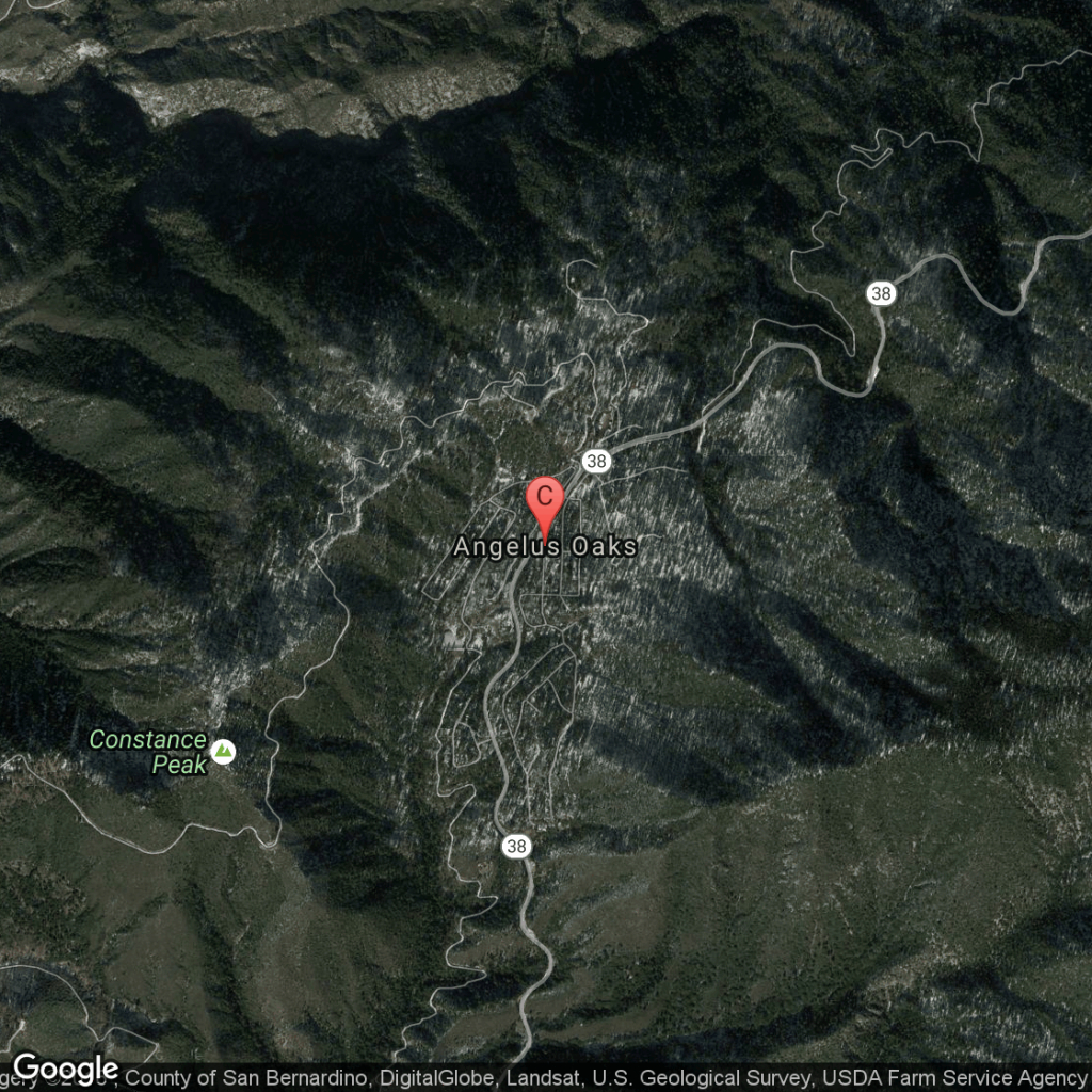Campgrounds In The Angelus Oaks Area Of Southern California   Usa Today - Southern California Campgrounds Map