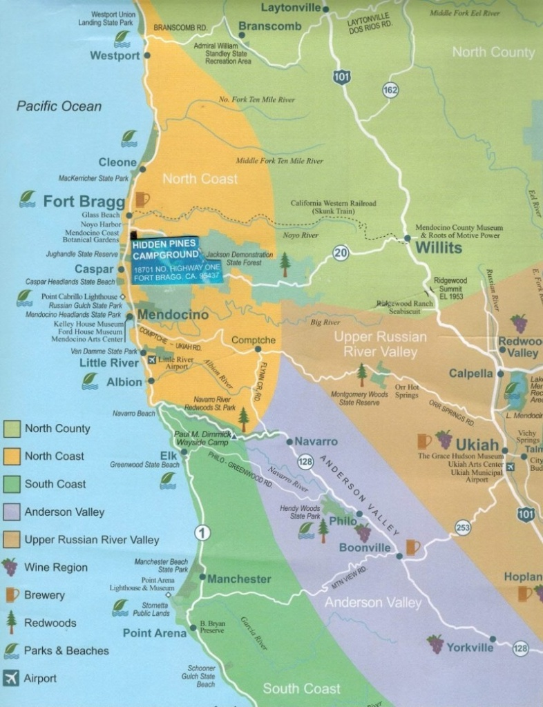 Camping California Map | D1Softball - California Camping Sites Map