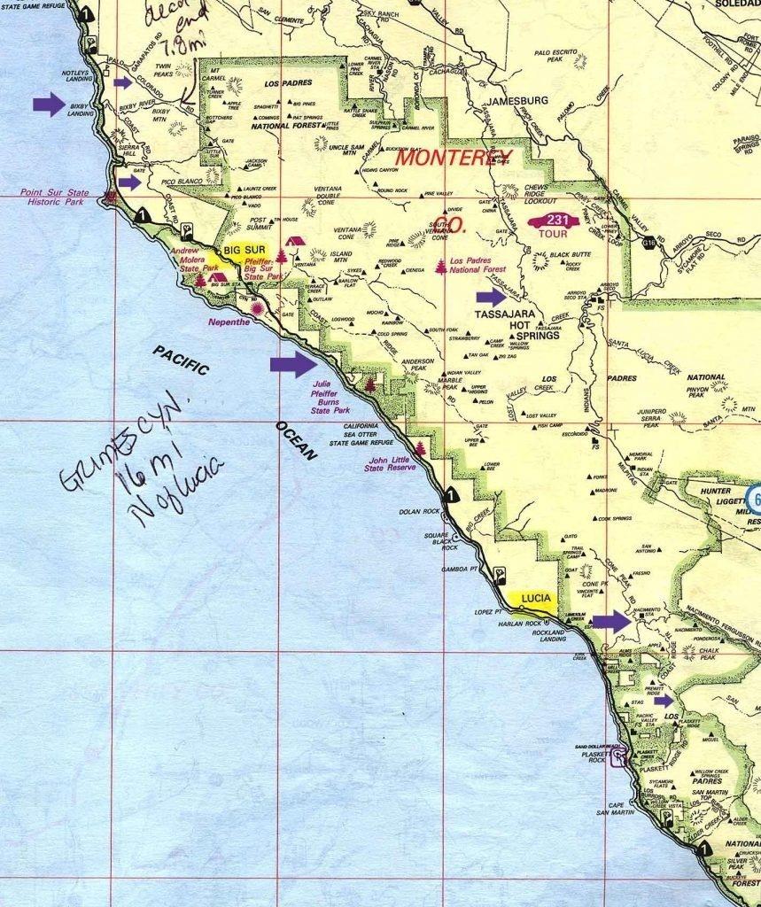 Camping Map California | D1Softball - California Camping Map