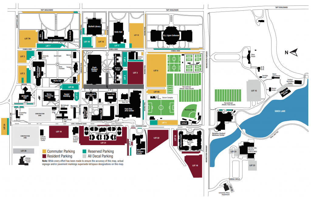 Campus Map | Midwestern State University - Texas State University Housing Map