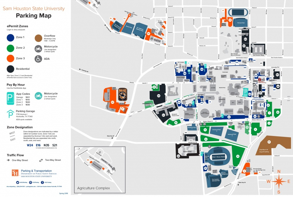Campus Map | Shsu Visitors Guide - Texas State University Housing Map