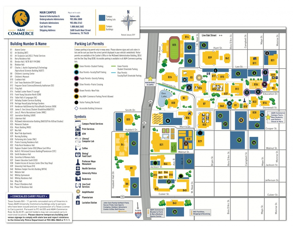 Campus Map - Texas A&m University-Commerce - Texas State Dorm Map