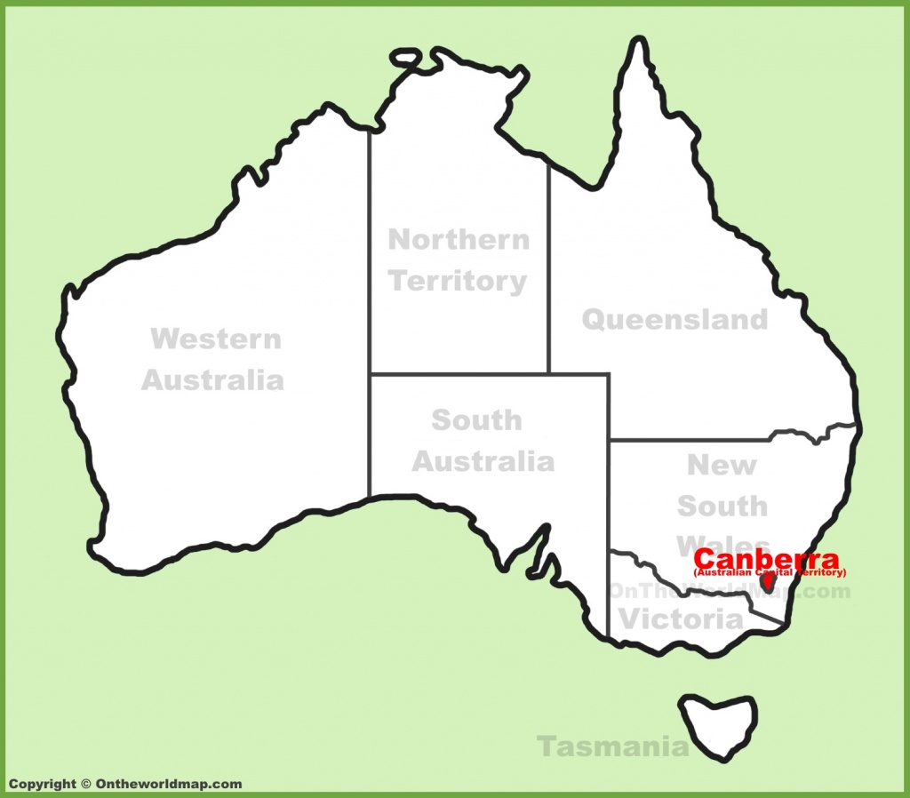 Canberra Maps | Australia | Maps Of Canberra (Capital City Of Australia) - Printable Map Of Canberra