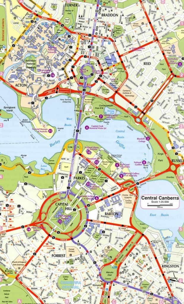 Canberra Ring Road Map: | Maps | Australian Road Trip, Australian - Printable Map Of Canberra