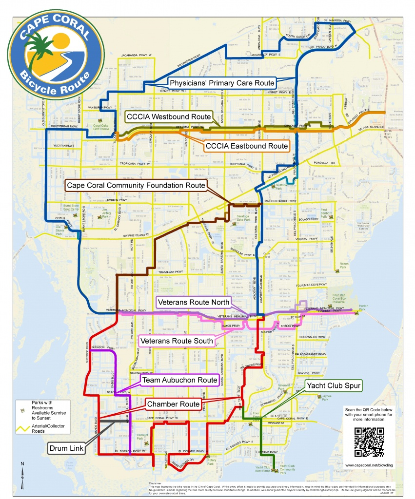 Cape Coral Bicycling Information For Visitors - Map Of Florida Including Cape Coral