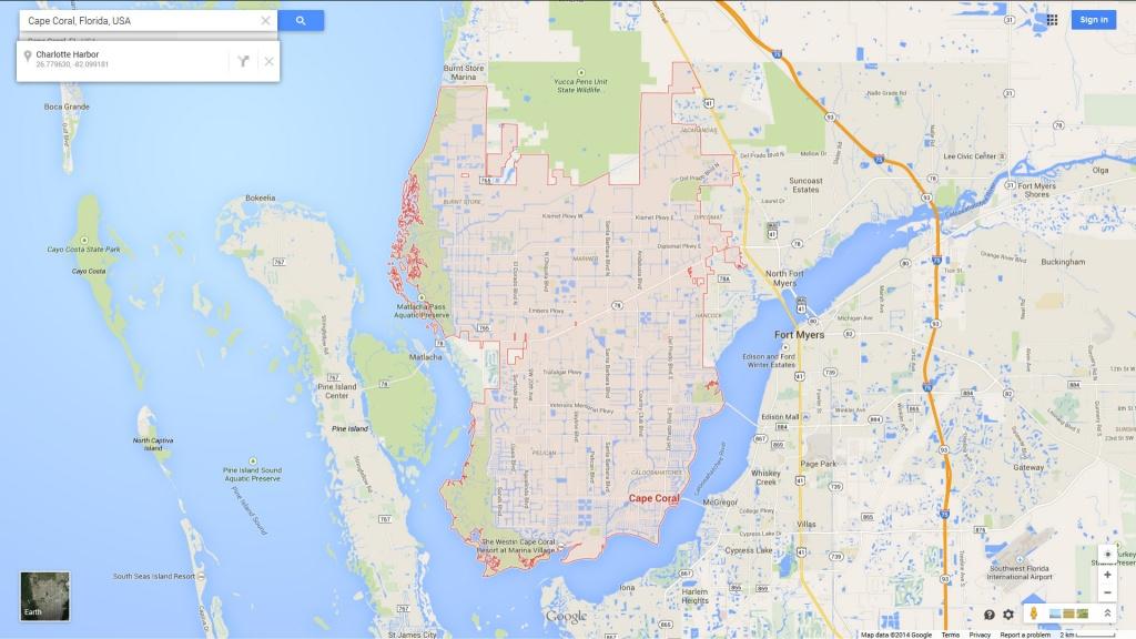Cape Coral, Florida Map - Google Maps Cape Coral Florida