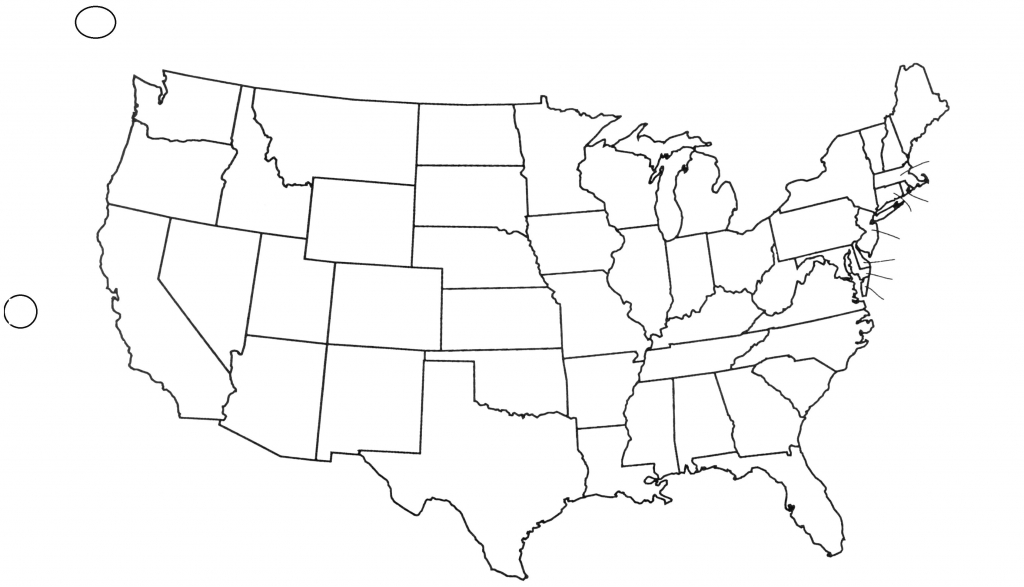 Capitals Awesome United States Blank Map - Berkshireregion - Printable 50 States Map