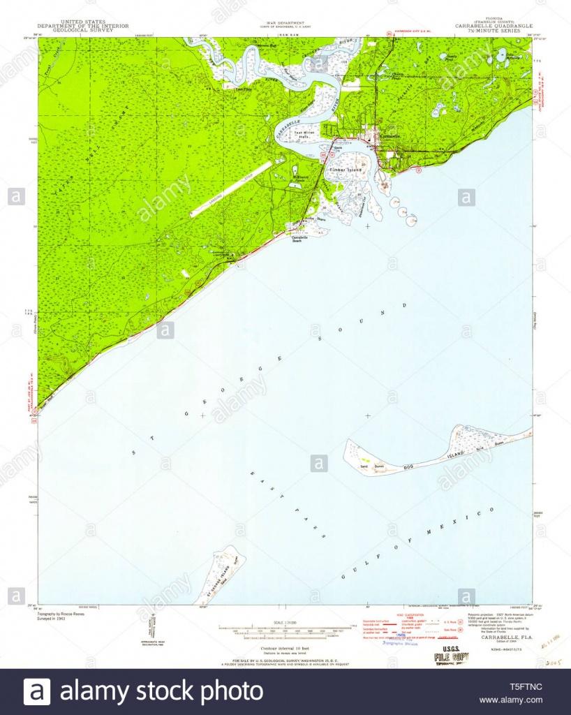 Carrabelle Florida Stock Photos & Carrabelle Florida Stock Images - Carrabelle Island Florida Map