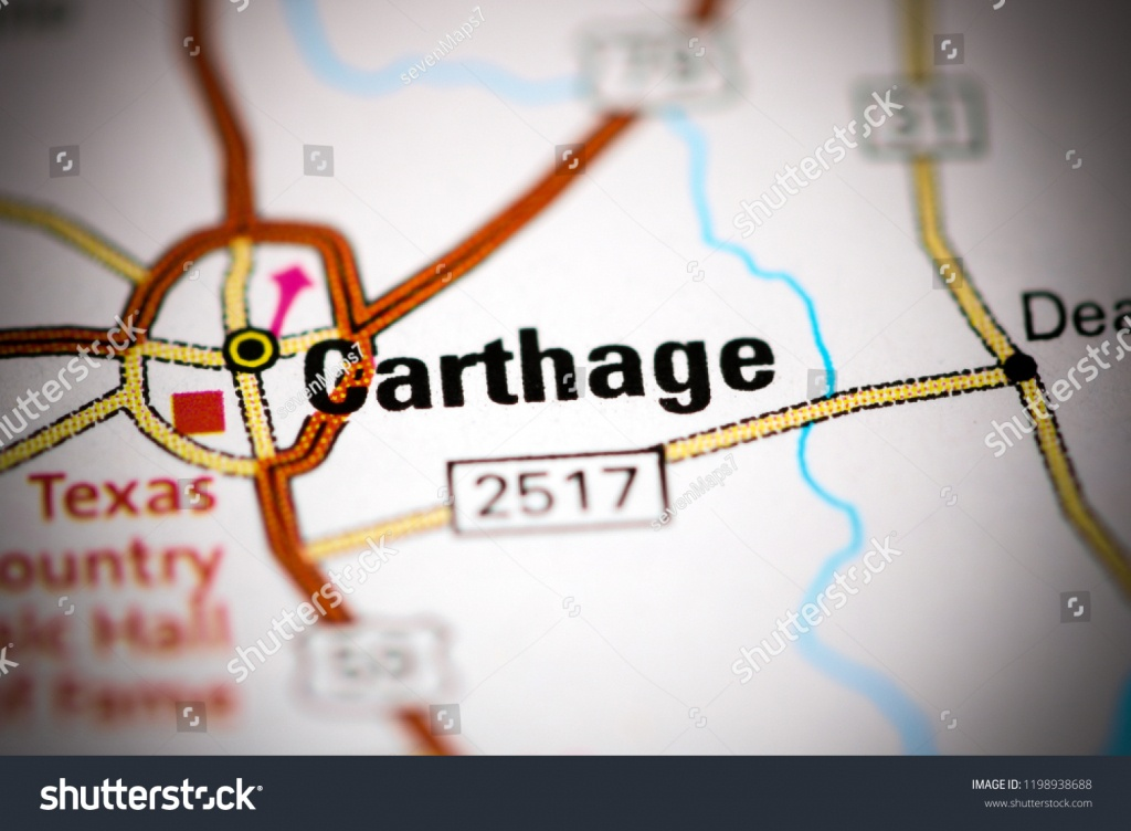 Carthage Texas Usa On Map Stock Photo (Edit Now) 1198938688 - Carthage Texas Map
