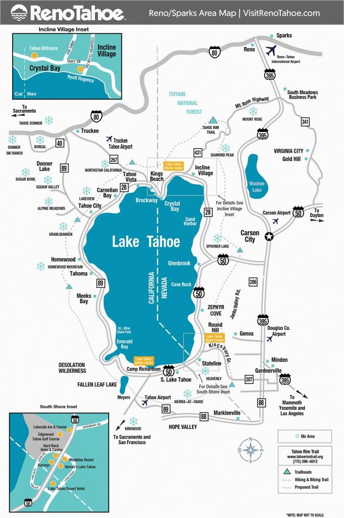 Casinos In Southern California Map Lake Tahoe On Map Of California - Lake Tahoe California Map