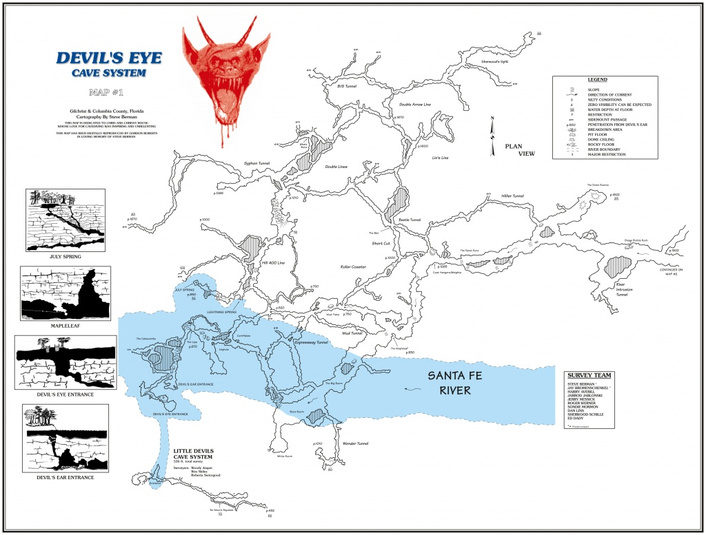 Cave Diving - High Springs, Florida - Jan 2013 [Archive] - The Dive - Florida Cave Diving Map