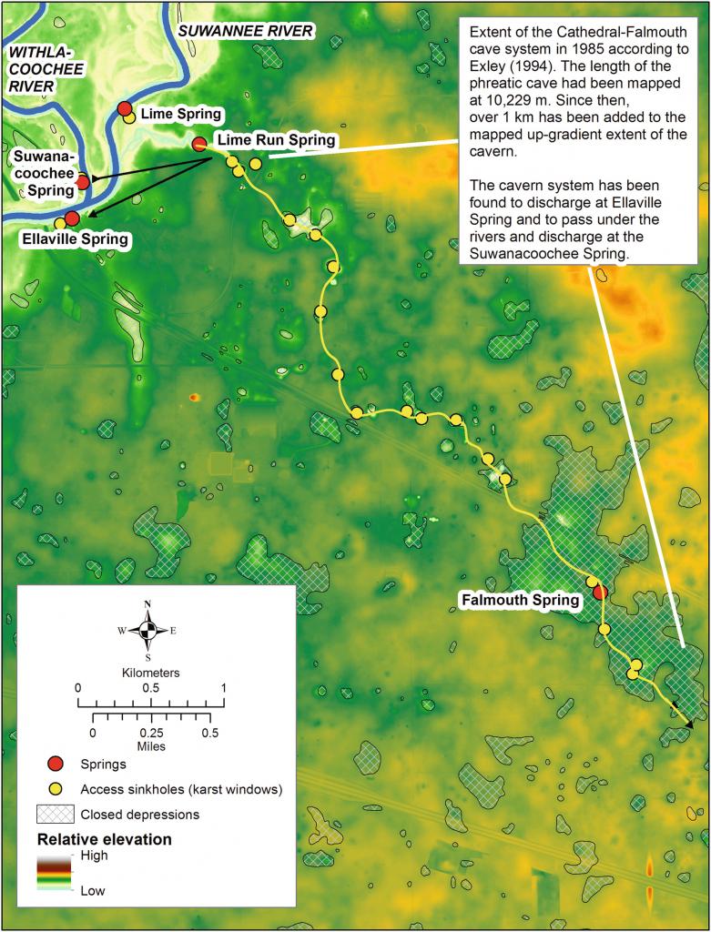 Caves And Sinkholes In Florida | Springerlink - Sinkhole Map Florida 2017