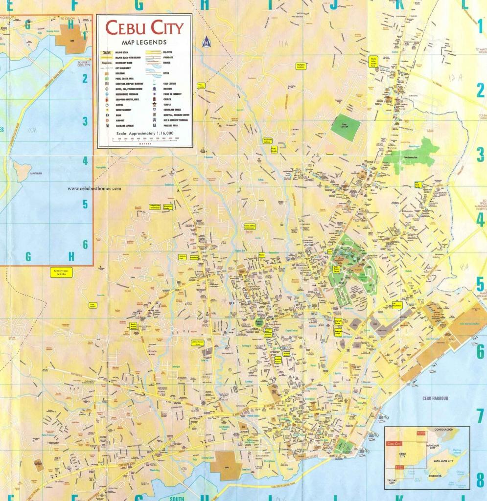Cebu City Tourist Map - Cebu City • Mappery - Cebu City Map Printable