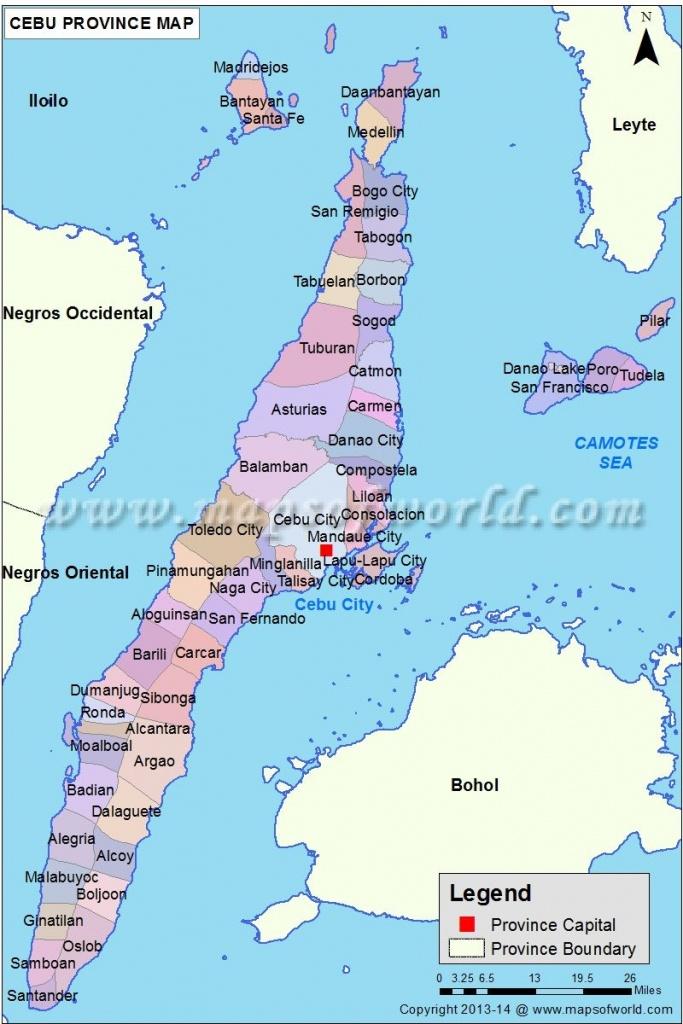 Cebu Map | Everything Philippines | Cebu, Philippines, Visayas - Cebu City Map Printable
