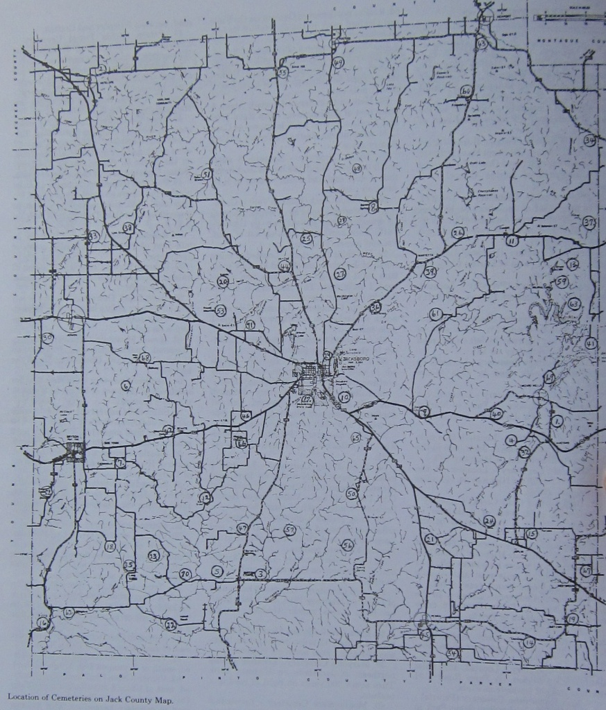 Cemeteries Of Jack County Tx - Jack County Texas Map