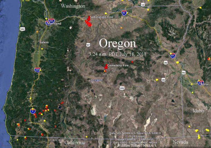 California Oregon Fire Map