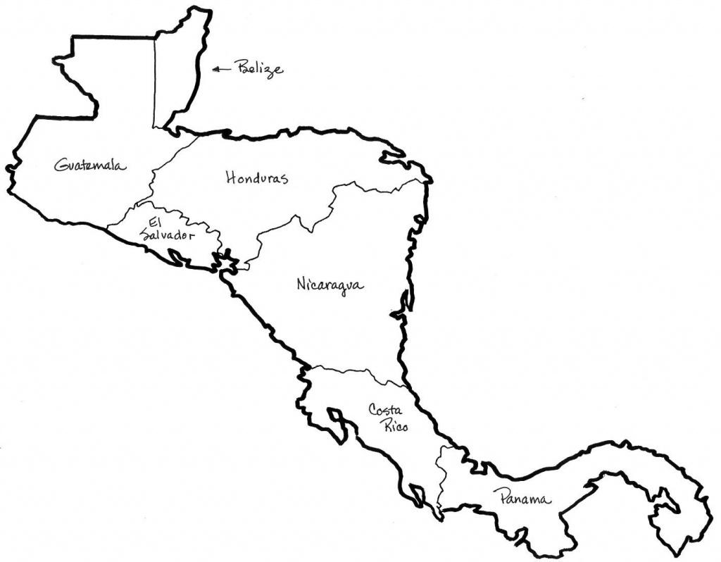 Central America Map Coloring | Social Studies | Central America Map - Central America Outline Map Printable