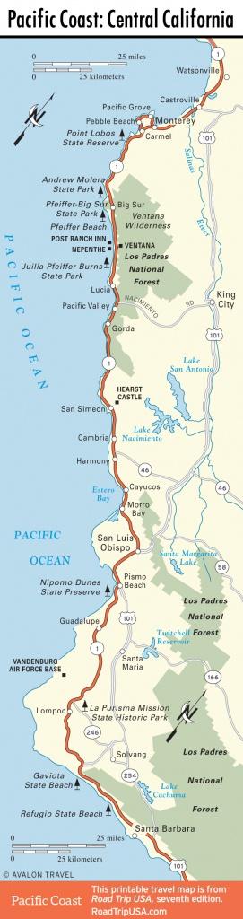 Road Map Of California Coast
