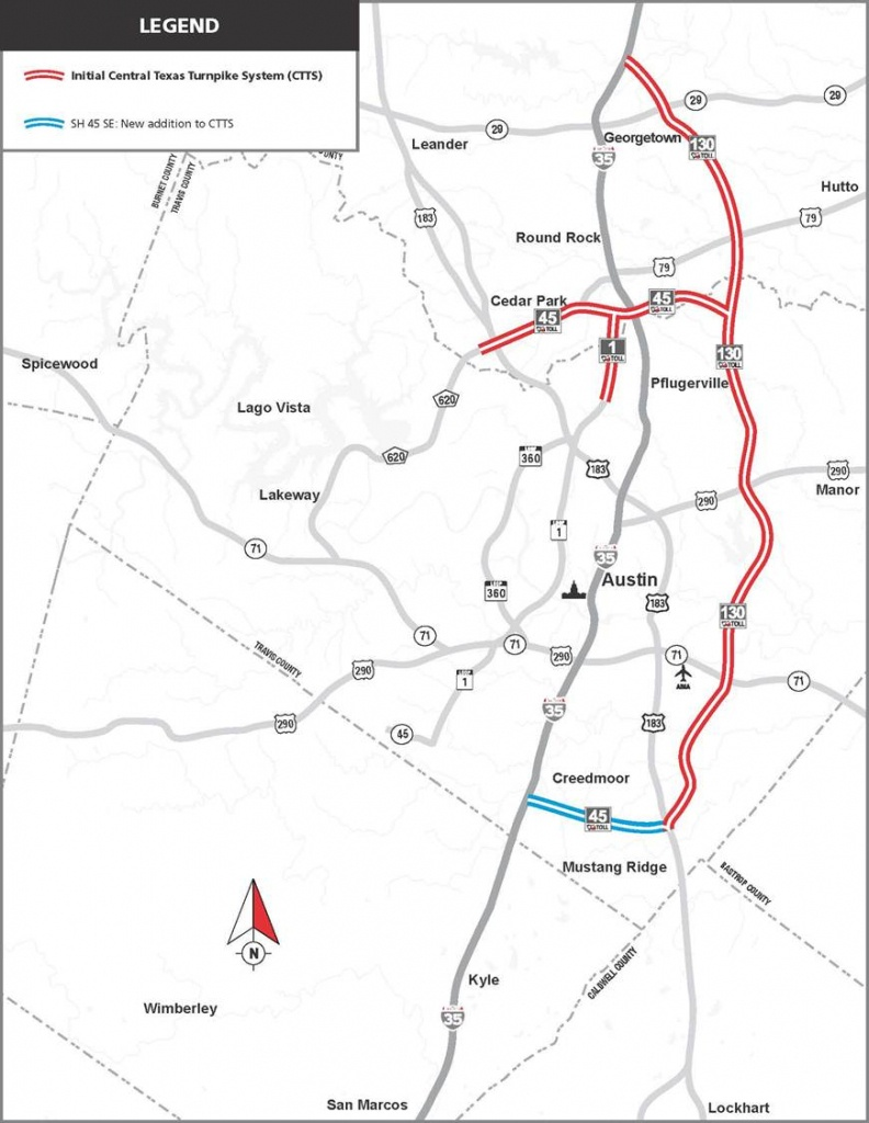 Central Texas Turnpike System | Us Department Of Transportation - I 35 Central Texas Traffic Map
