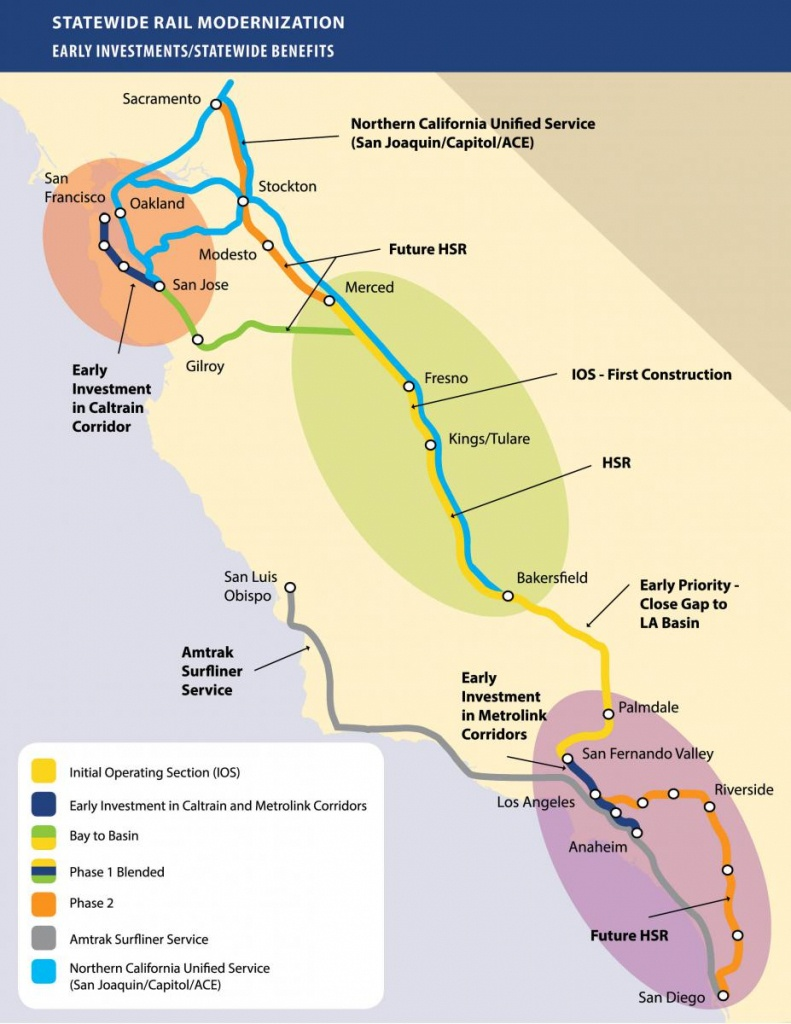 Chapter's Stance On California's High-Speed Rail Project   Sierra - High Speed Rail California Map