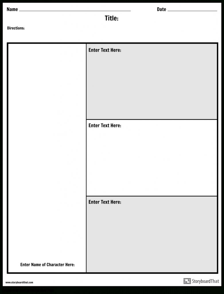 Character Map Graphic Organizer | Make A Character Map Worksheet - Free Printable Character Map