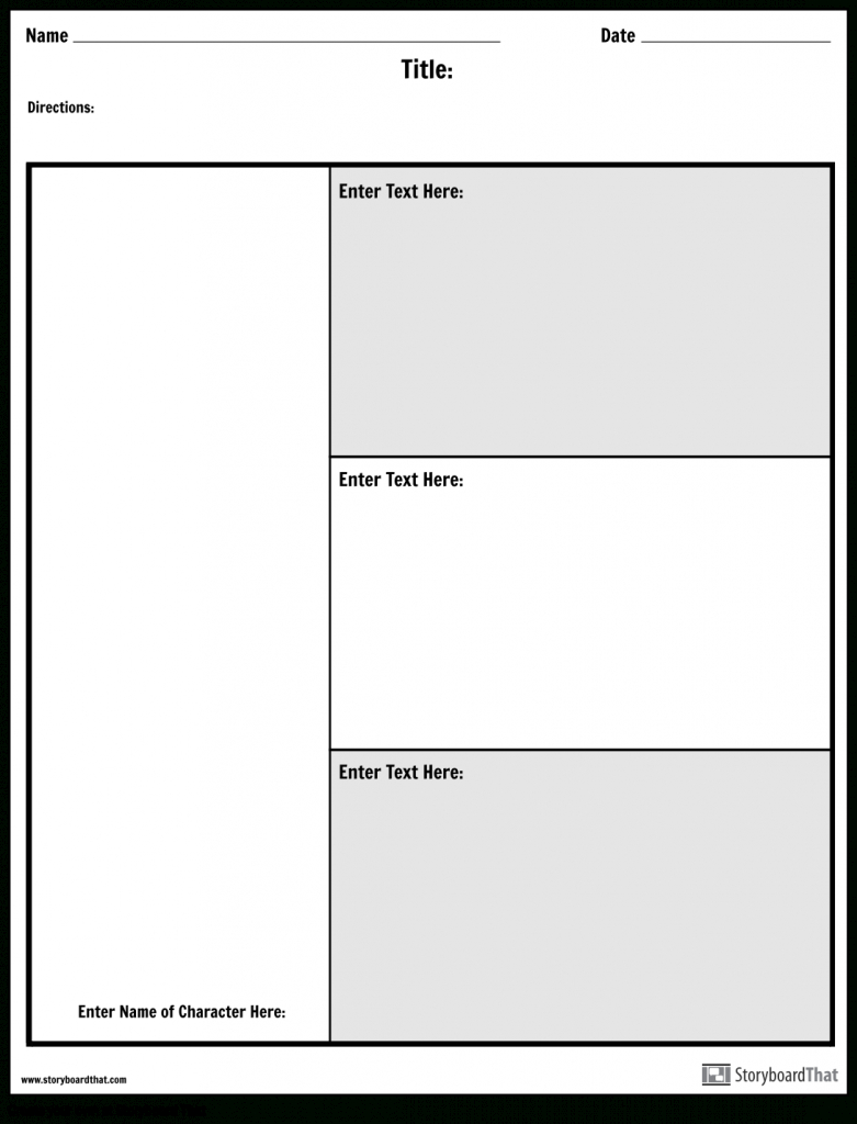 Character Map Graphic Organizer | Make A Character Map Worksheet - Printable Character Map