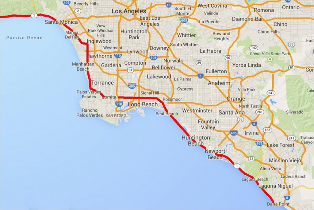 Charming California Google Maps Driving The Pacific Coast Highway In - Google Maps California Coast