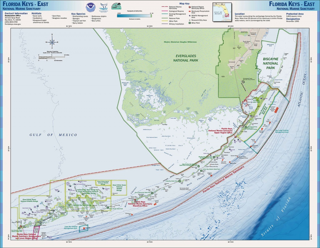 Charts And Maps Florida Keys - Florida Go Fishing - Map Of Lower Florida