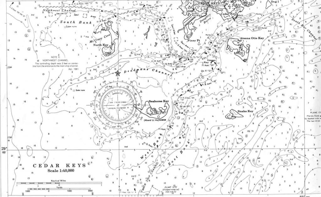 Charts Of Florida's Big Bend - Florida Keys Marine Map