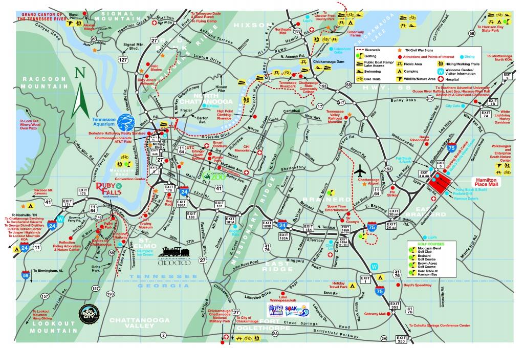 Chattanooga Area Maps - Printable Map Of Chattanooga