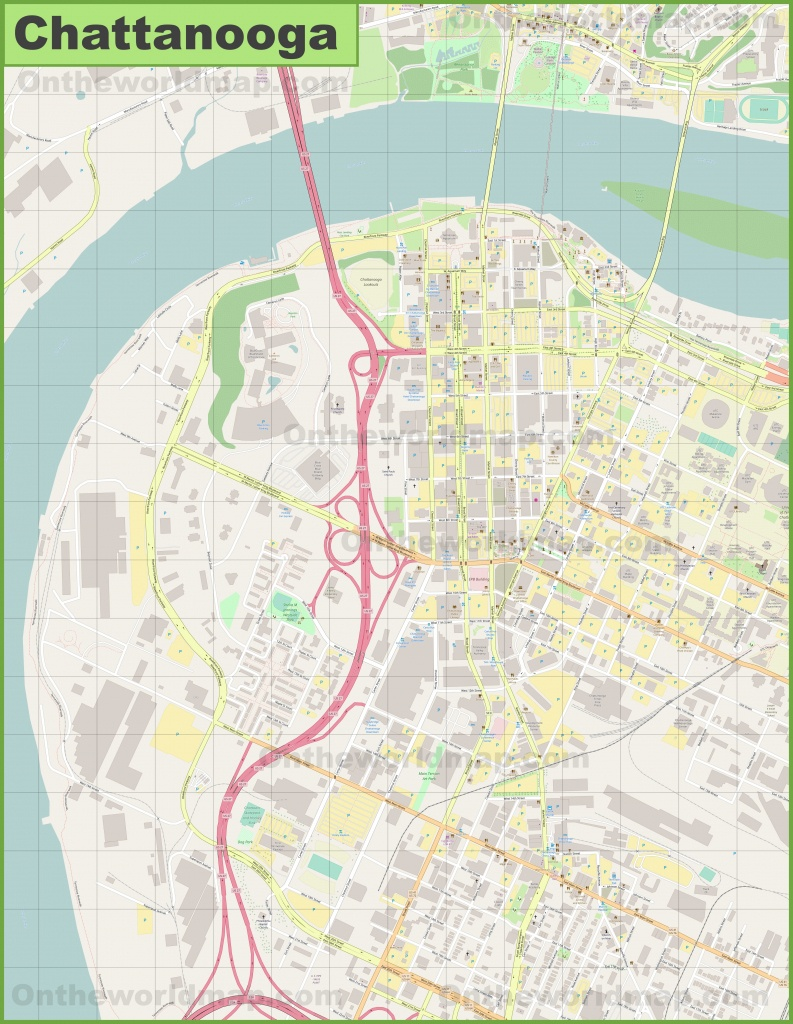 Chattanooga Downtown Map - Printable Map Of Chattanooga