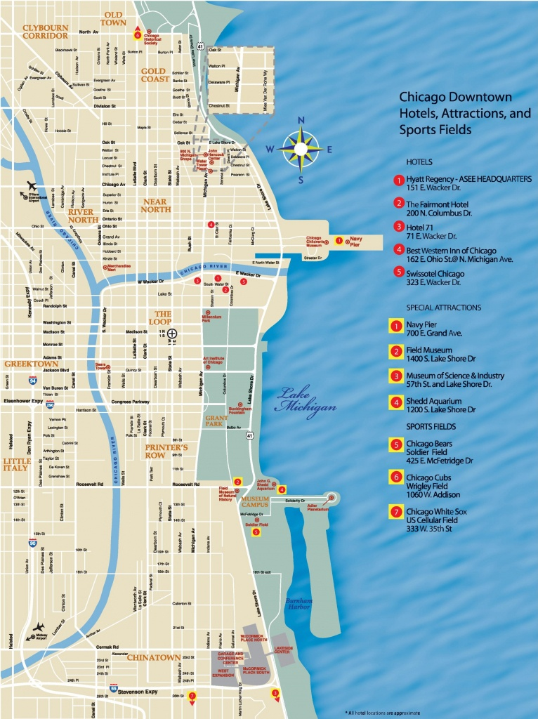 Chicago Downtown Map - Chicago City Map Printable