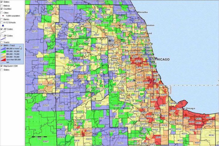 Chicago Zip Code Map Printable