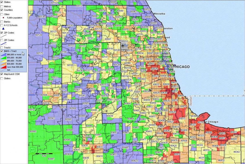 Chicago Map Zip Codes Search The Maptechnica Printable Map Catalog - Chicago Zip Code Map Printable