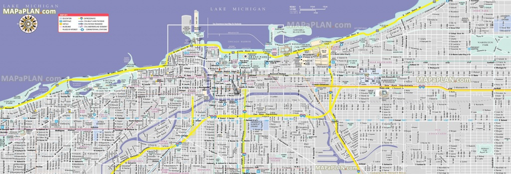 Chicago Maps - Top Tourist Attractions - Free, Printable City Street Map - Printable Map Of Downtown Chicago Attractions