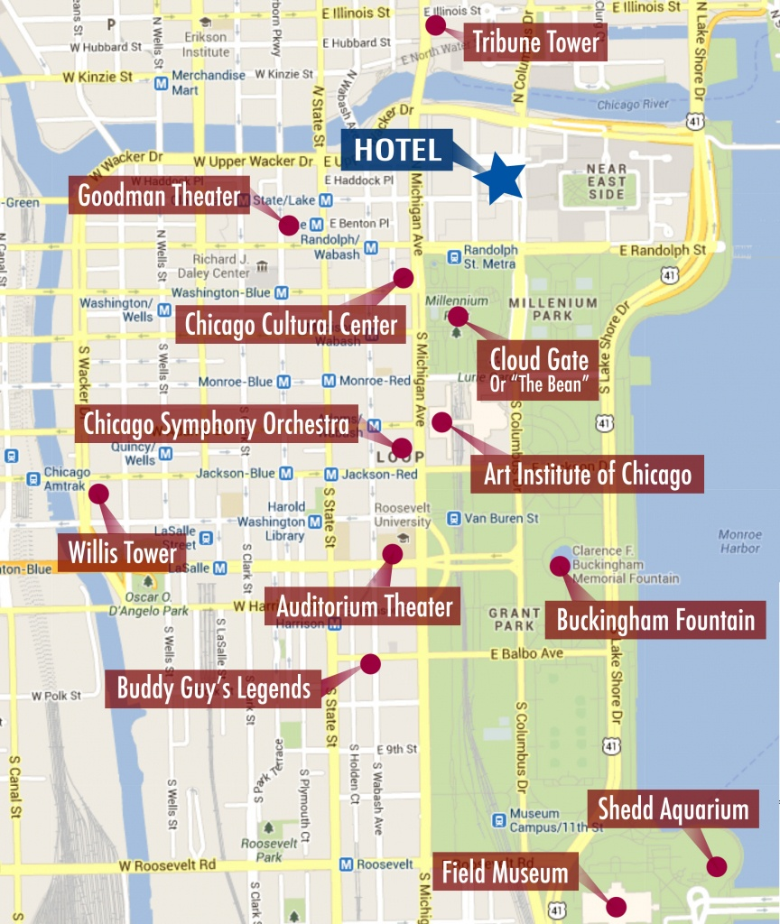 Chicago Tourist Walking Map | Leancy Travel - Printable Walking Map Of Downtown Chicago